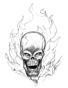 Scott Harshbarger Presents: Flaming Skull
