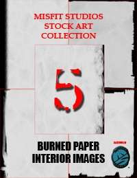 Stock Art Backgrounds 5: Burned Paper