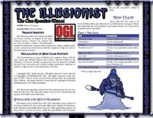 d20 Illusionist Core Specialist Wizard