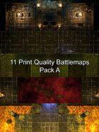 11 Print Quality Battlemaps Pack A
