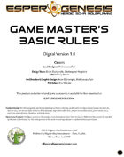 Esper Genesis Game Master's Basic Rules - FREE