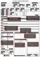 Sabre RPG 2e Fillable PDF Character Forms