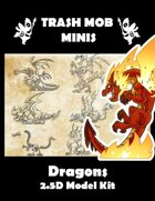 Dragons: 2.5D Model Kit