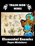 Elemental Enemies: Paper Miniatures