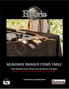 Mundane Ranger Items Tables