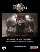 Mundane Paladin Items Tables