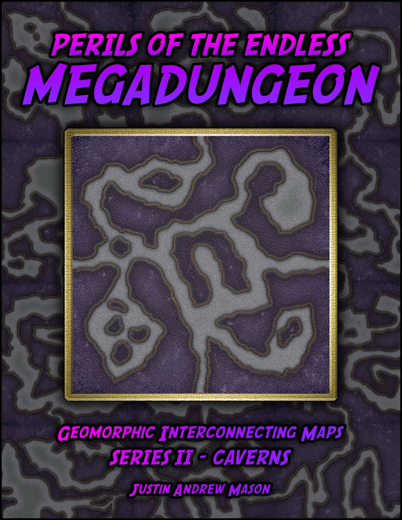 Perils of the Endless Megadungeon - Series II: Caverns (24 VTT Maps)