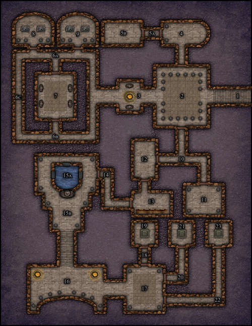 VTT Map Set - #001 Simple Dungeon - Pathstoadventure.com | Big ... Dungeon Map on