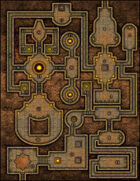 VTT Map Set - #044 The Citrine Keep