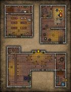 VTT Map Set - #064 Seedy Tavern, Magic Shop & Blacksmith