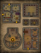 VTT Map Set - #077 Hovel and Abodes & City Latrine and Outhouses