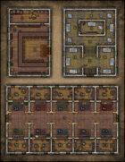 VTT Map Set - #083 Corner Pub, Museum & Indoor Bazaar
