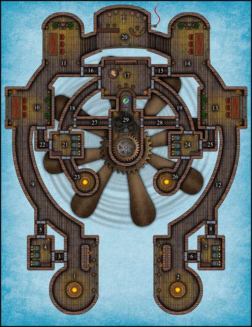 Airship battle map d d