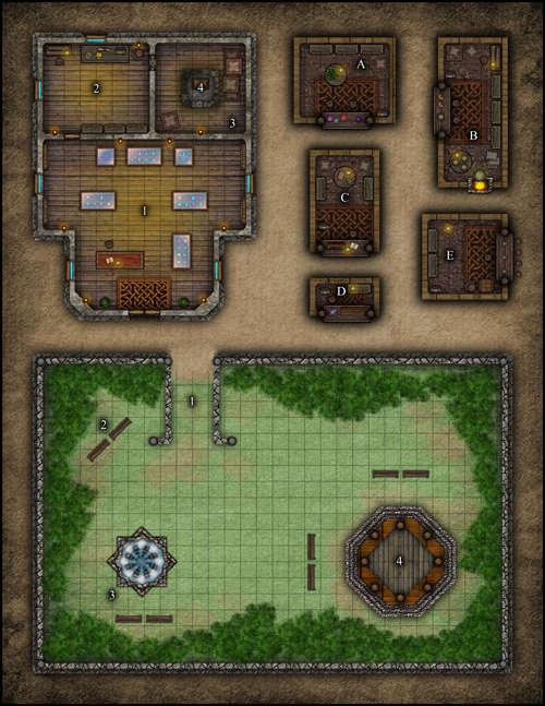 Vtt Map Set 099 Jeweler Shop Merchant Kiosks Amp Small