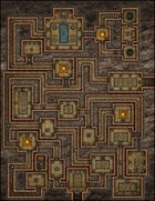 VTT Map Set - #126 Crypt of the Dwarven Lords