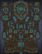 VTT Map Set - #130 The Cerulean Court