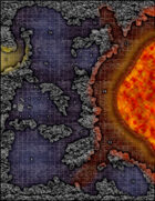 VTT Map Set - #131 The Lava Shrine