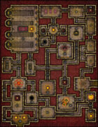 VTT Map Set - #160 Cult of the Demon Skull