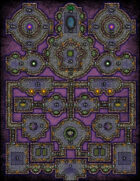 VTT Map Set - #164 Bastion of the Alexandrite Empress