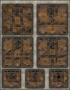 VTT Map Set - #214 Ruined Tower of Gax