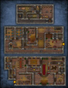 VTT Map Set - #218 Mysterious Mansion of Secrets