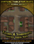 VTT Bundle: Taverns & Storefronts - Fantasy Urban Maps [BUNDLE]