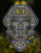 VTT Map Set - #246 Starship Deckplan: Aurum Class Battery Starship