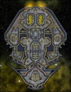 VTT Map Set - #246 Starship Deckplan: Aurum Class Battery Starship