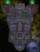 VTT Map Set - #263 Starship Deckplan: Deep Space Refueling Tanker Ship