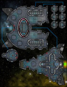 VTT Map Set - #270 Starship Deckplan: Multi-Vessel Planetary Science Exploration Ship