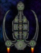 VTT Map Set - #283 Starship Deckplan: Privateer Class Transport