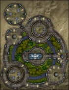 VTT Map Set - #289 Offworld Enclosed Public Park
