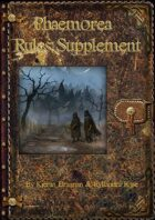 Phaemorea Rules Supplement