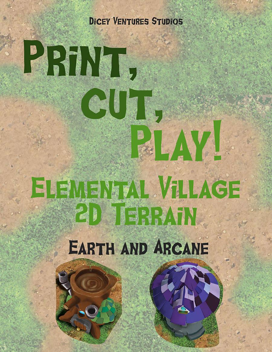 Elemental Village: Print and Play 2D Terrain - Earth/Arcane - Dicey  Ventures Studios | 2D Terrain | Print and Play | DriveThruRPG com