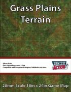 Grass Plains Terrain Map (Squares = 5 Feet)