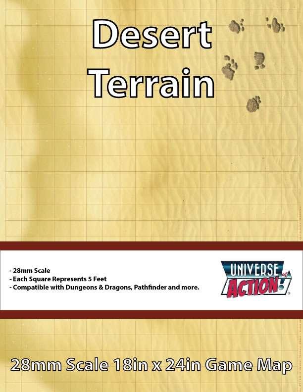 Desert Terrain Map (Squares = 5 Feet) - Universe of Action, LLC | TERRAINS  | DriveThruRPG com