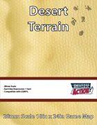 Desert Terrain Map (Hexes = 1 Yard)