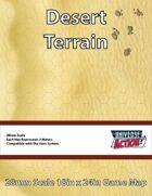 Desert Terrain Map (Hexes = 2 Meters)
