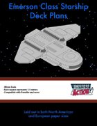 Emerson Class Starship Deck Plans (Squares = 1.5 Meters)