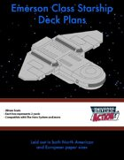 Emerson Class Starship Deck Plans (Hexes = 2 Meters)