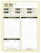 4d6th Wall Role-Playing System - Character Sheet