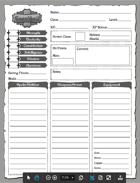 Eorathril Character Sheet