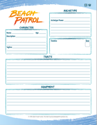 Beach Patrol Character Sheet