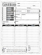 For Coin & Blood Character Sheet