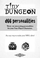 d66 personalities - Thirty-six interesting personalities for your Non-Player Characters