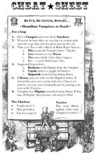 Clown Helsing: Cheat Sheet