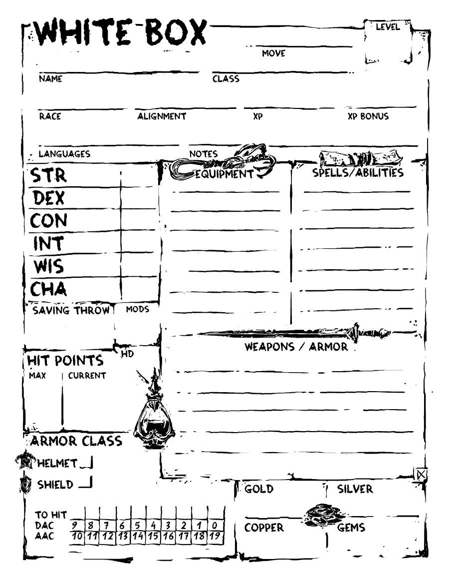 Character Sheet 3 by Daniel Comerci