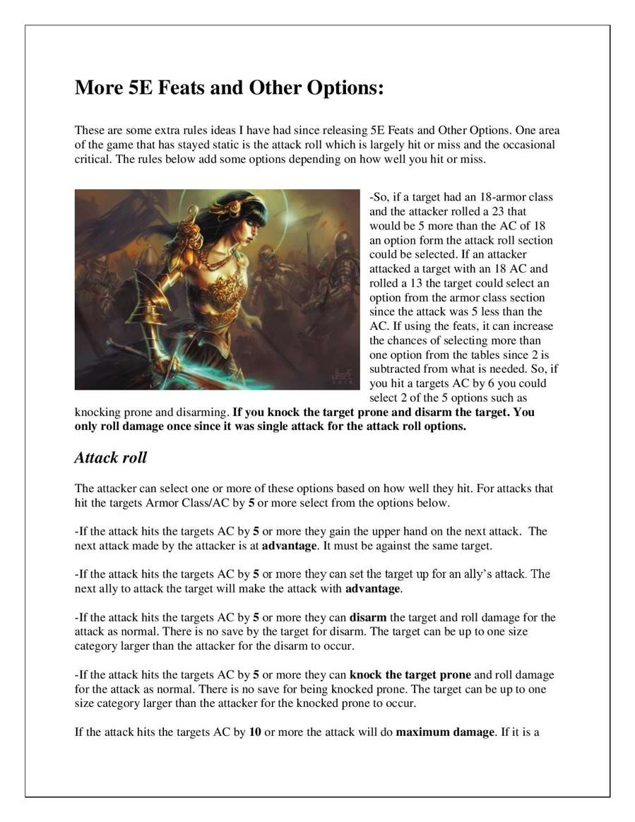 More 5E Feats and Other Options - David Vershaw II | DriveThruRPG com