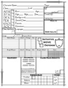 Havenshield RPG Character Sheets