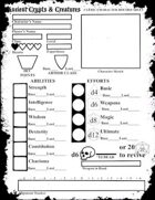 BX Style AC&C Character Sheets